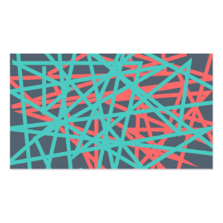 Abstract Lines Red and Blue Business Card
