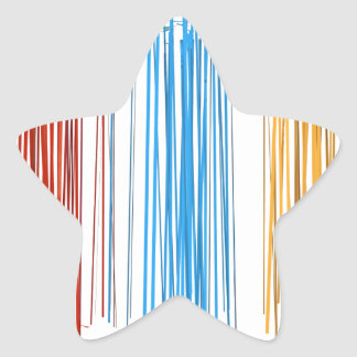 Abstract lines star sticker