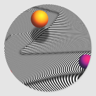 Abstract - Lines - That s a moire Round Stickers