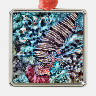 Abstract Lion Fish Christmas Ornament