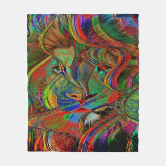 Abstract Lion Fleece Blanket