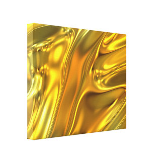 Abstract Liquid Gold Canvas Print