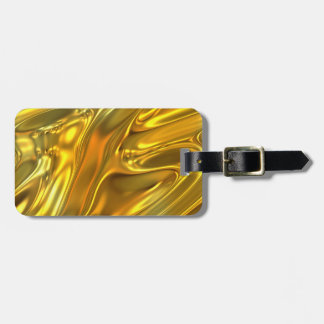 Abstract Liquid Gold Luggage Tag