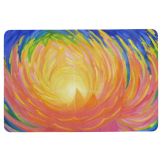 Abstract Lotus Flower Floor Mat