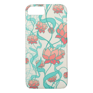 Abstract Lotus Pattern iPhone 8/7 Case