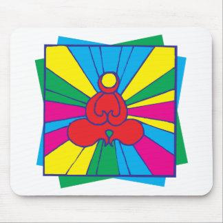 Abstract Lotus Pose Yoga Gift Mousepads