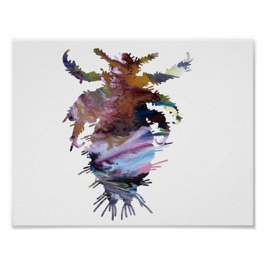 Abstract louse silhouette poster