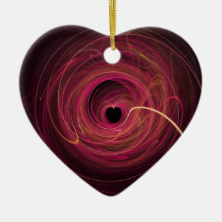 Abstract Love Christmas Ornament