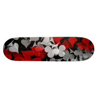 Abstract Lucky Winner Gambler Skate Board