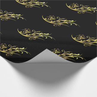 Abstract Luxury Faux Gold Flower Wrapping Paper