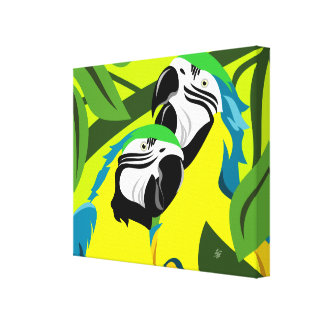 Abstract Macaw Art Canvas Print
