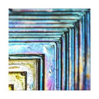 Abstract Macro Bismuth Mineral Canvas