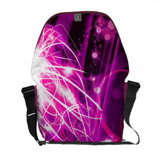 Abstract Magenta Commuter Bags