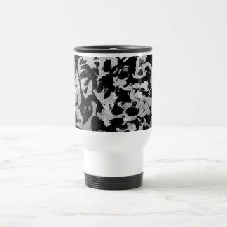 Abstract Magic - Silver Black Travel Mug