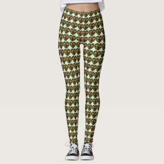 Abstract Manchester Bee repeat leggings