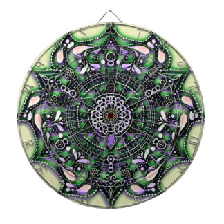 Abstract Mandala Dart Board by Artful Oasis
