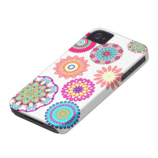 Abstract mandala floral pattern iphone cases