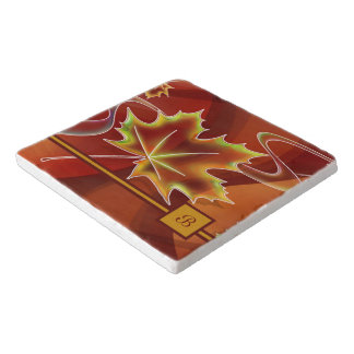 Abstract Maple Leaf Trivet