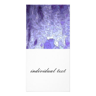 abstract maps blue photo greeting card