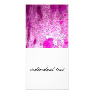 abstract maps neon pink custom photo card