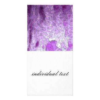 abstract maps purple customized photo card