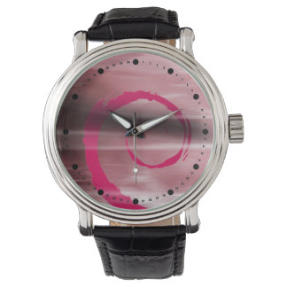 Abstract Marbelized Curl (pink fuschia) Wrist Watches
