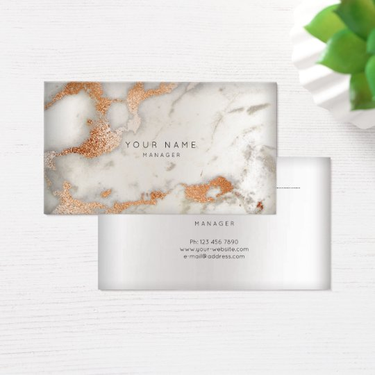 Abstract Marble Appointment Card Silver Copper Pin