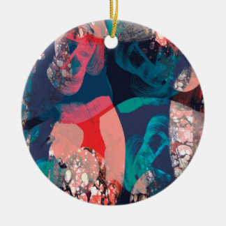 Abstract Marbled Christmas Ornament