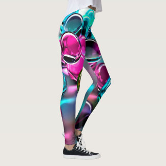 Abstract Marbles Art Leggings