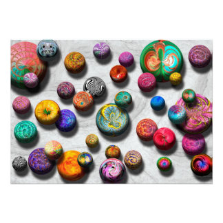 Abstract - Marbles Custom Invitations