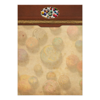 Abstract - Marbles Personalized Invitation