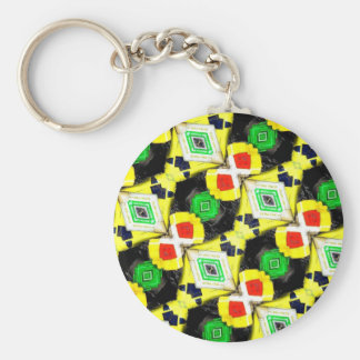 Abstract Markers Basic Round Button Key Ring