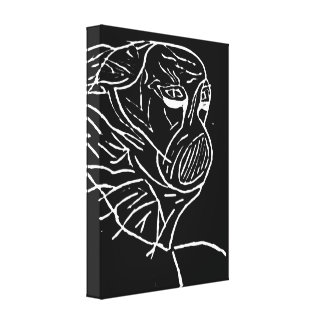 """Abstract """"Masked Monster"""" Canvas Prints"""