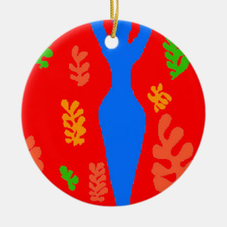 Abstract Matisse Style Shapes Christmas Ornament
