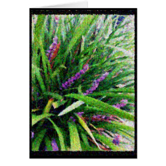 Abstract mauve flowering grass greeting card
