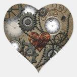 Abstract mechanical design heart sticker