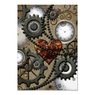 Abstract mechanical design 9 cm x 13 cm invitation card