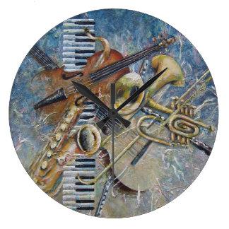 Abstract Melodyclock Large Clock