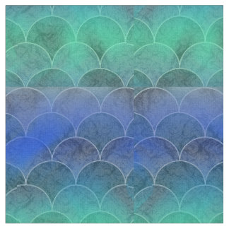 Abstract Mermaid Scales Fabric