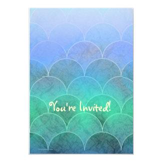 Abstract Mermaid Scales Light 13 Cm X 18 Cm Invitation Card