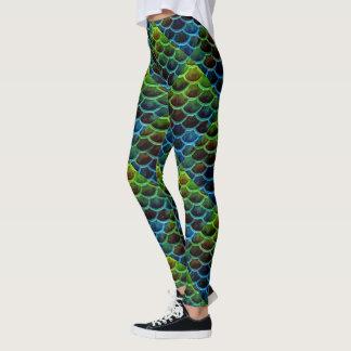 Abstract Mermaid Tail Scales Leggings
