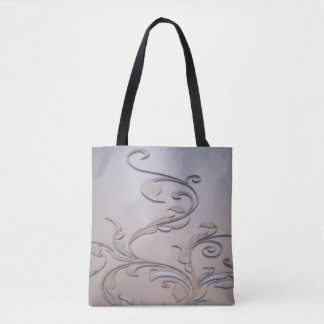 Abstract Metal design tote bags