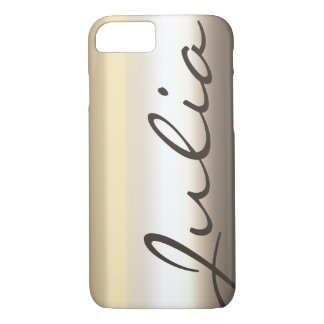 abstract metal shiny case with name