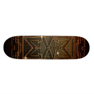Abstract metal structure skate board decks