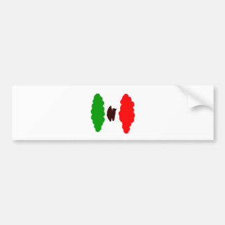 Abstract Mexican Flag Bumper Sticker