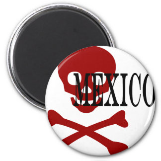 Abstract Mexico 6 Cm Round Magnet