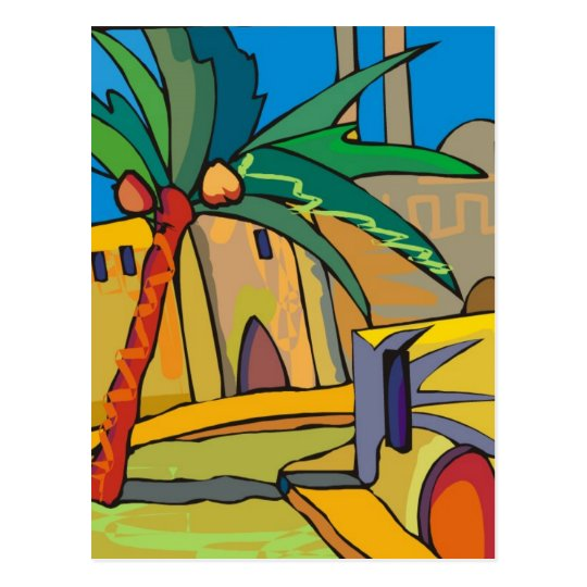 abstract mexico town postcard