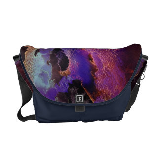 Abstract Midnight Storm Courier Bag