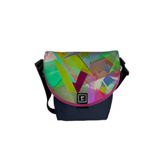 Abstract Mini purse Courier Bag