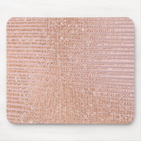 Abstract Minimal Rose Gold Pink Glitter Grill Mouse